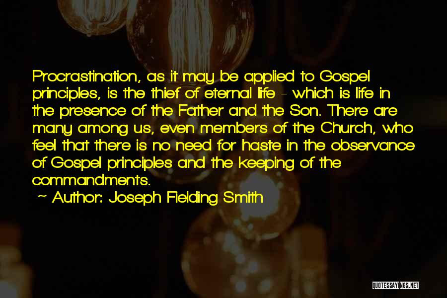 Father Son Life Quotes By Joseph Fielding Smith