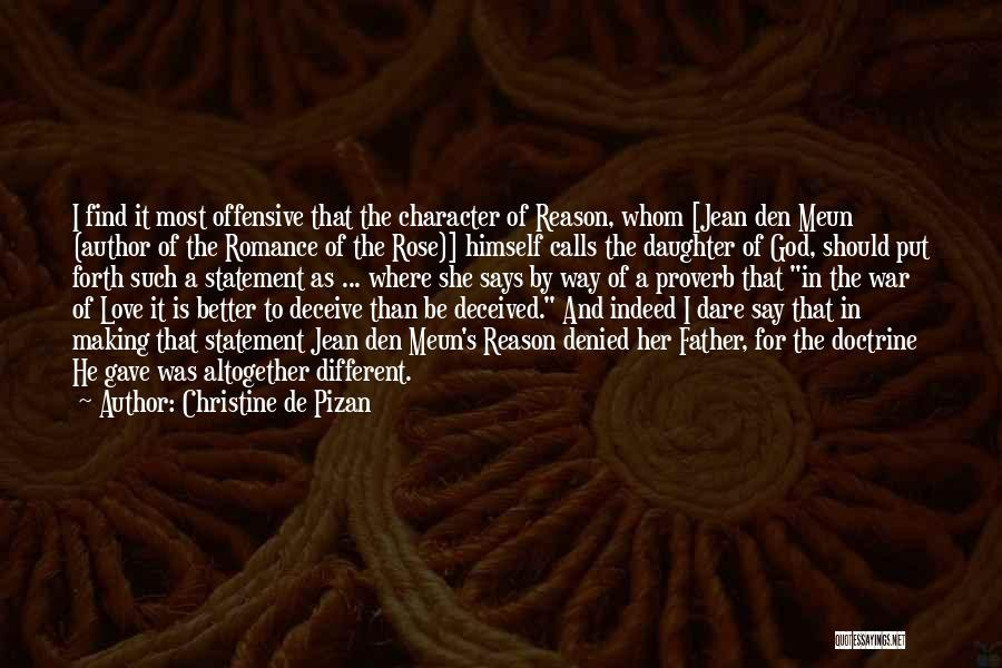 Father's Love To Her Daughter Quotes By Christine De Pizan