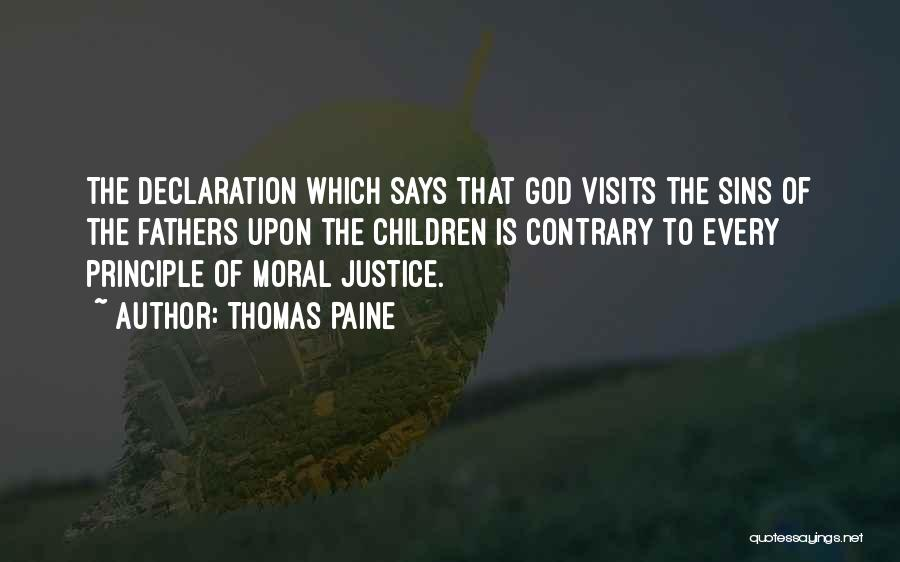Father's Sins Quotes By Thomas Paine