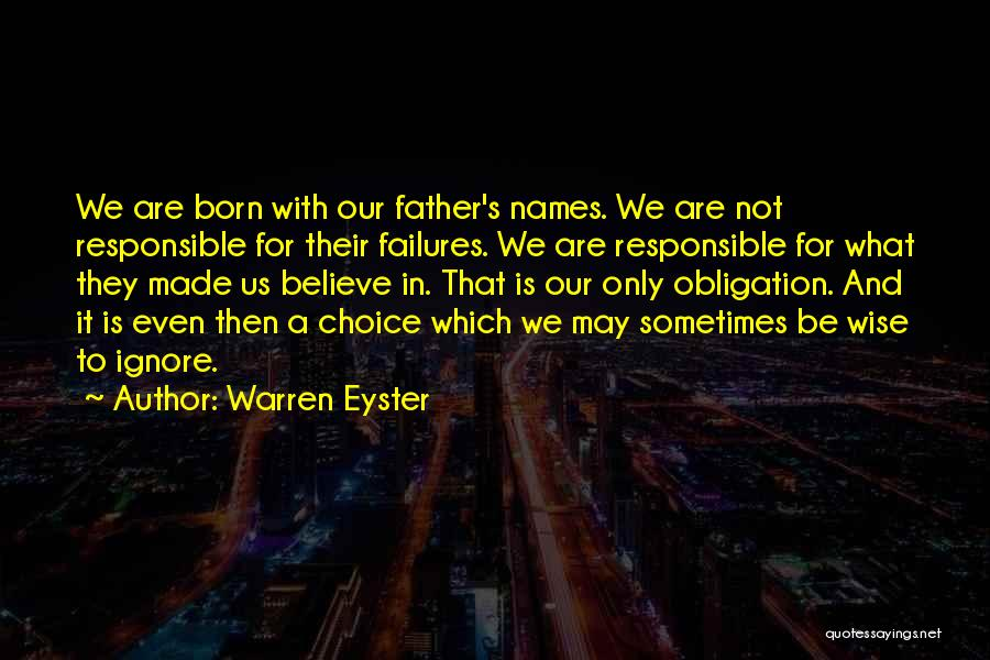 Father's Sins Quotes By Warren Eyster