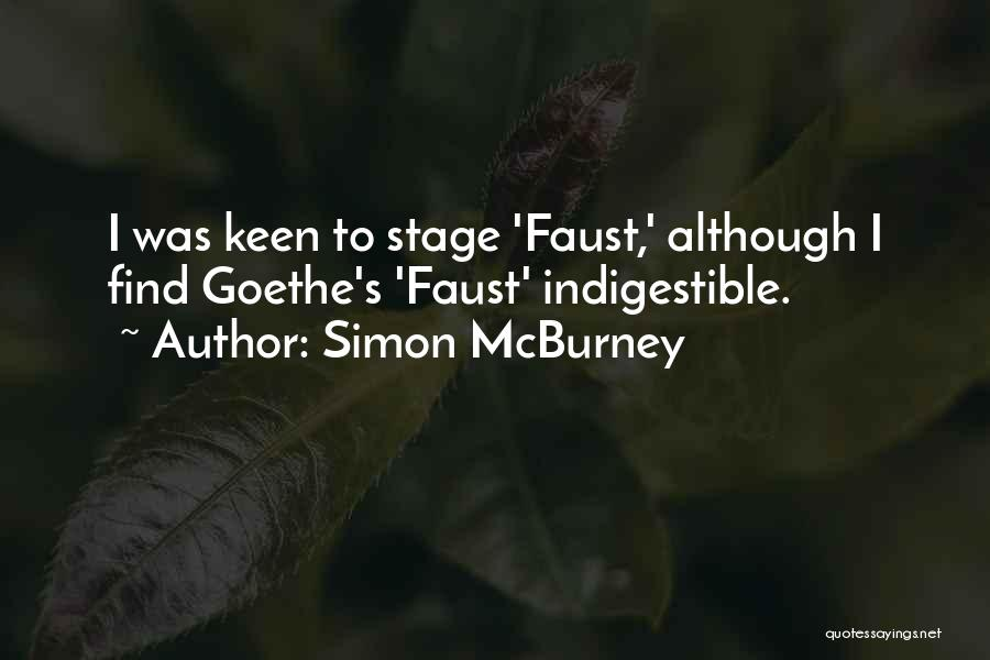 Faust Goethe Quotes By Simon McBurney