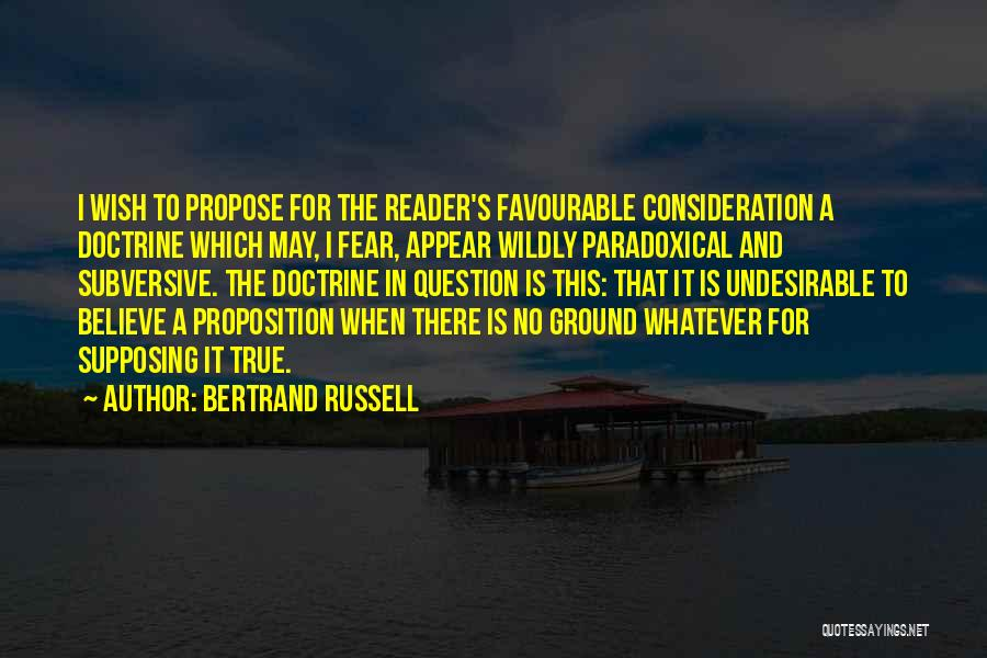 Favourable Quotes By Bertrand Russell