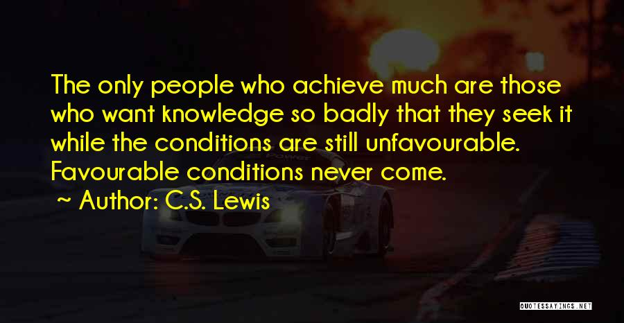Favourable Quotes By C.S. Lewis