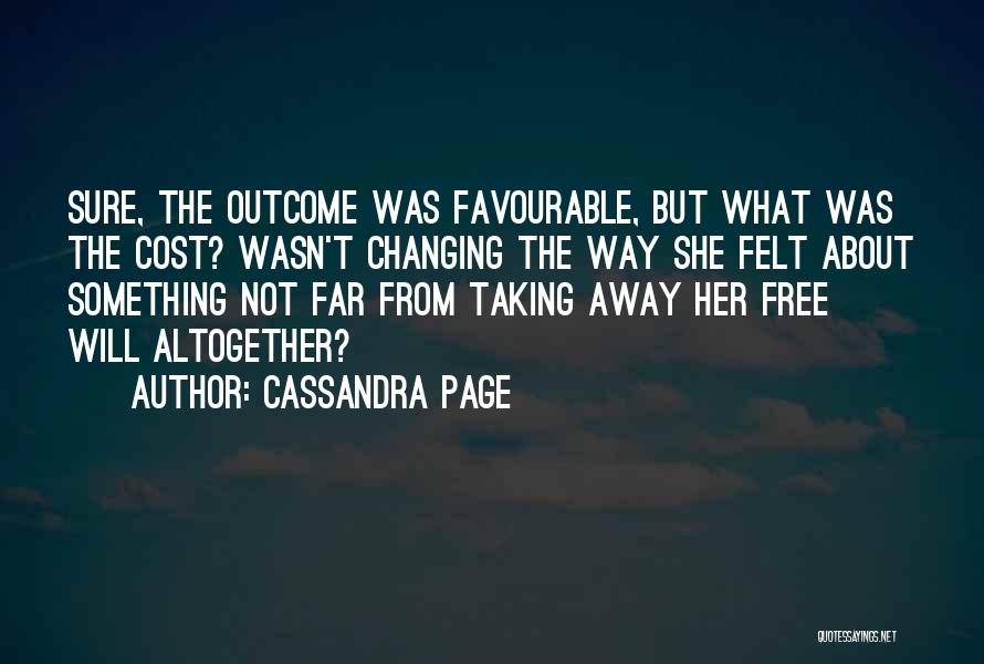 Favourable Quotes By Cassandra Page