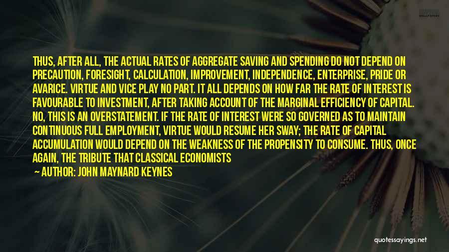Favourable Quotes By John Maynard Keynes