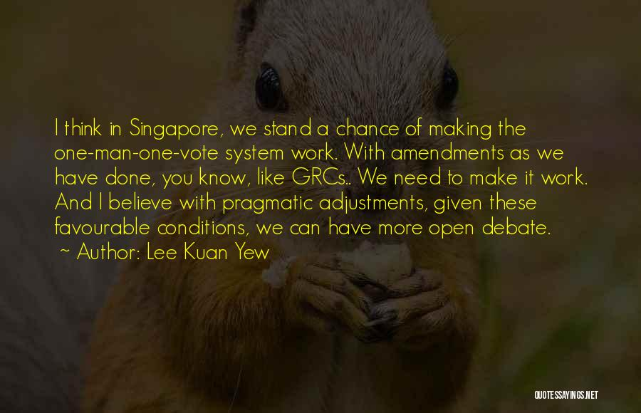 Favourable Quotes By Lee Kuan Yew