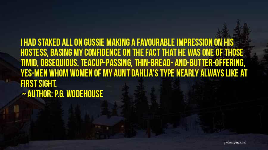 Favourable Quotes By P.G. Wodehouse
