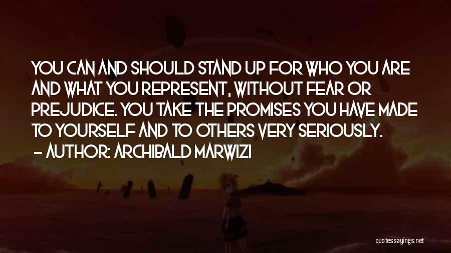 Fear And Leadership Quotes By Archibald Marwizi