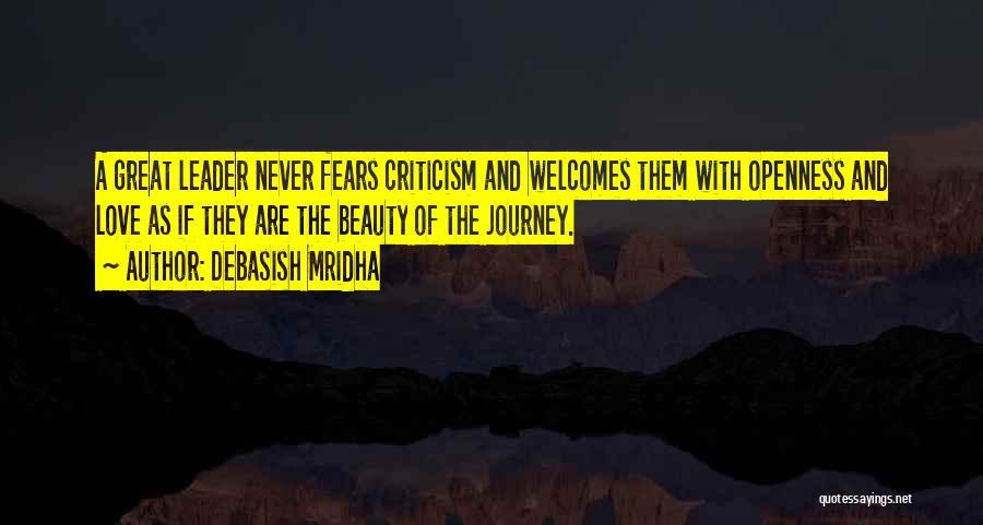 Fear And Leadership Quotes By Debasish Mridha