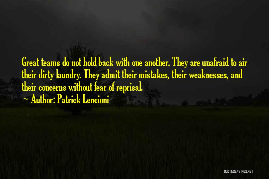 Fear And Leadership Quotes By Patrick Lencioni