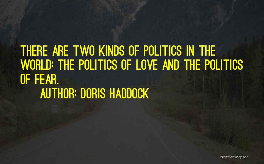 Fear And Politics Quotes By Doris Haddock