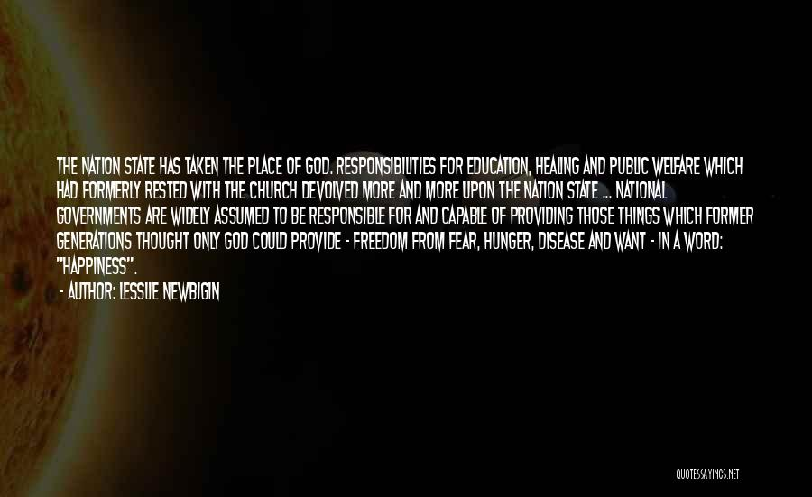 Fear And Politics Quotes By Lesslie Newbigin