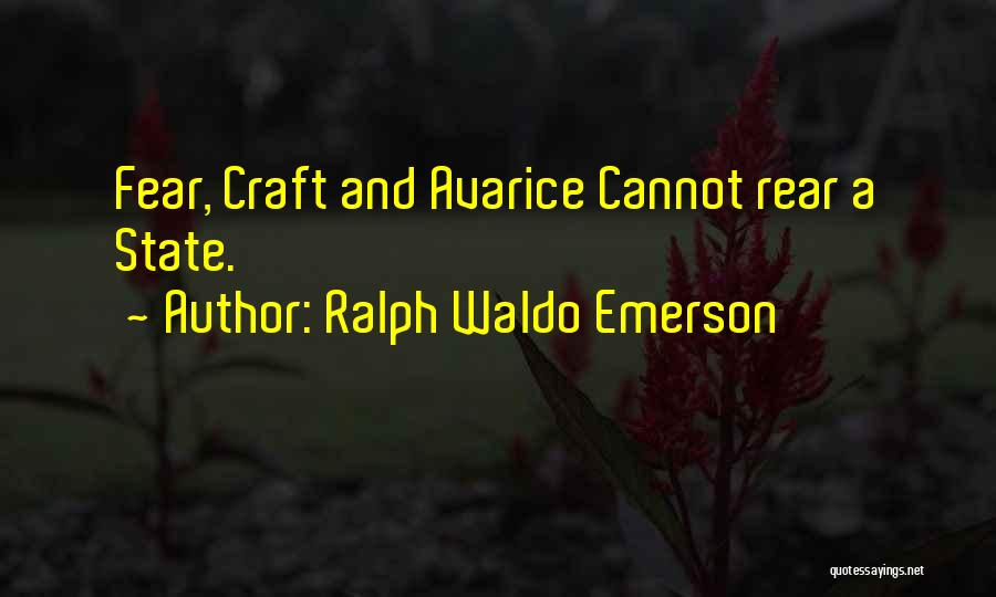Fear And Politics Quotes By Ralph Waldo Emerson
