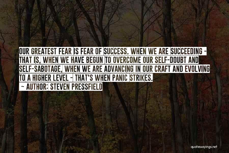 Fear And Success Quotes By Steven Pressfield