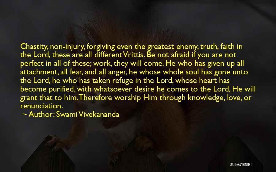 Fear Love Quotes By Swami Vivekananda