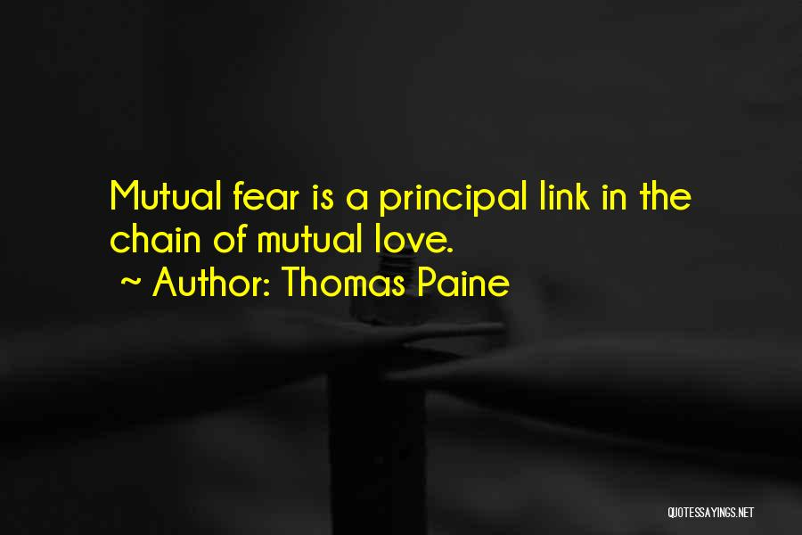 Fear Love Quotes By Thomas Paine