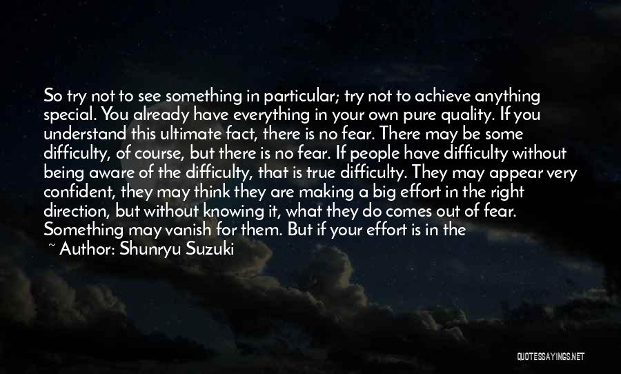 Fear Of Losing Everything Quotes By Shunryu Suzuki