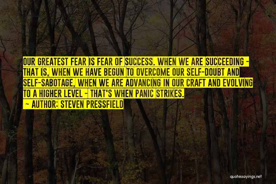 Fear Of Not Succeeding Quotes By Steven Pressfield