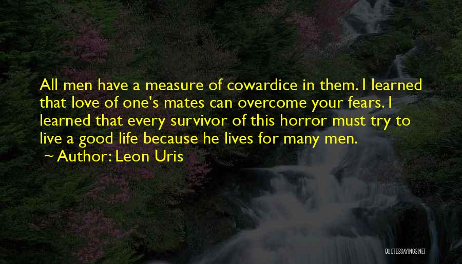 Fears Of Love Quotes By Leon Uris