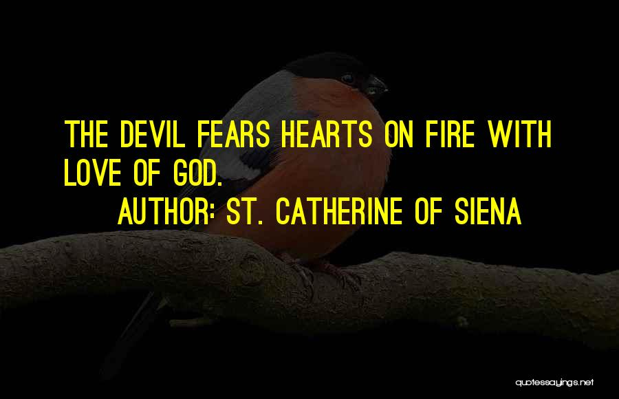 Fears Of Love Quotes By St. Catherine Of Siena