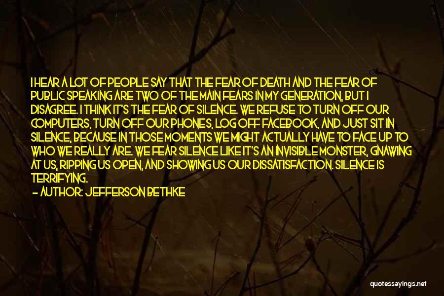 Fears Of Public Speaking Quotes By Jefferson Bethke
