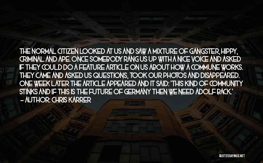 Feature Article Quotes By Chris Karrer