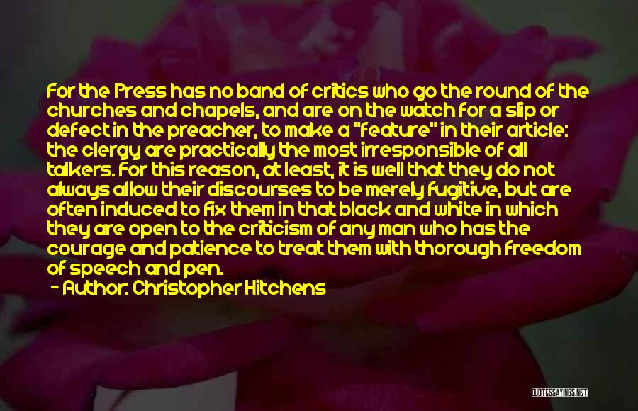 Feature Article Quotes By Christopher Hitchens
