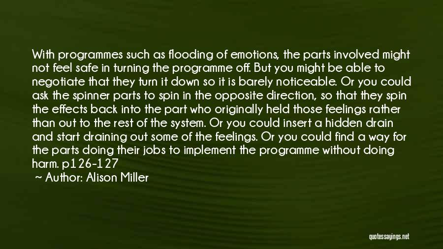 Feel Safe With You Quotes By Alison Miller
