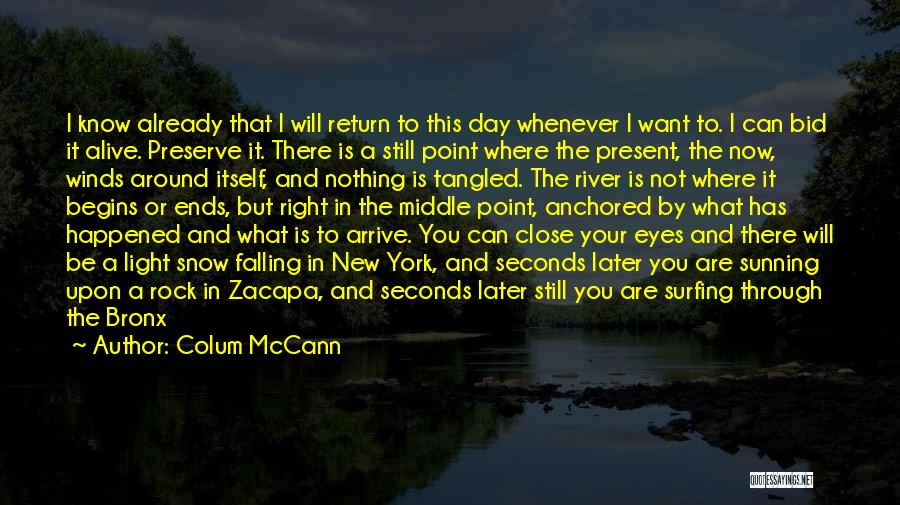 Feel So Close To You Right Now Quotes By Colum McCann