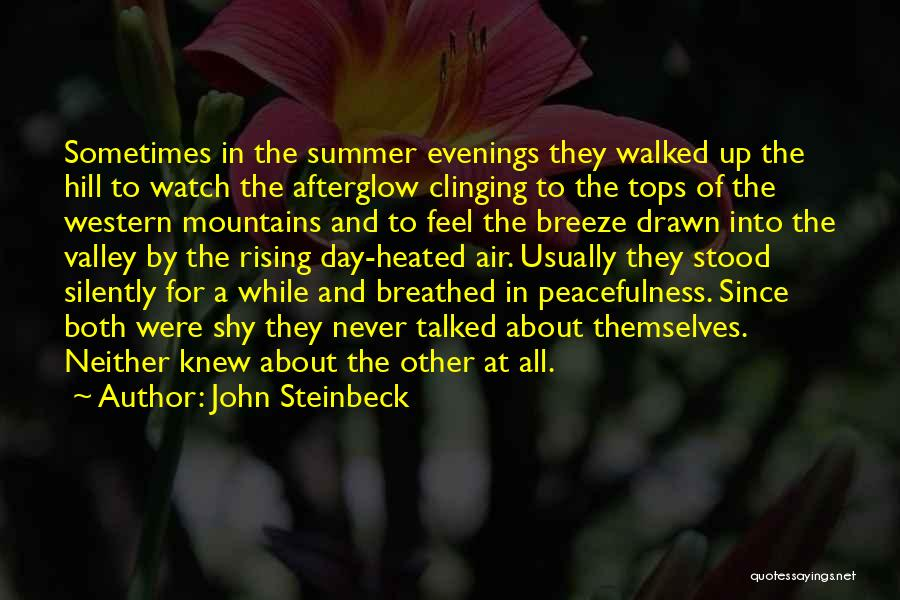 Feel The Breeze Quotes By John Steinbeck