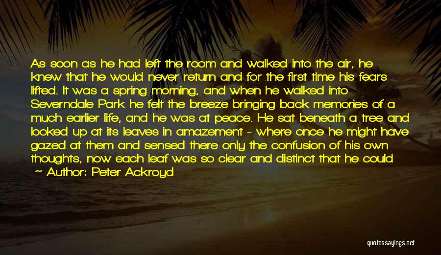 Feel The Breeze Quotes By Peter Ackroyd