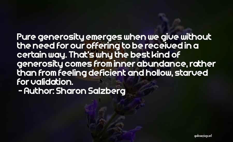 Feeling Abundance Quotes By Sharon Salzberg