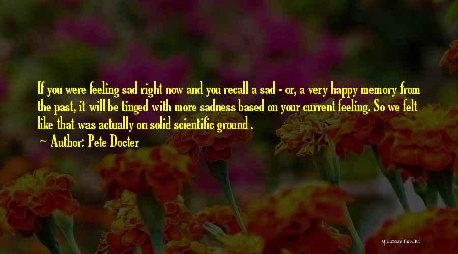 Feeling Both Happy And Sad Quotes By Pete Docter