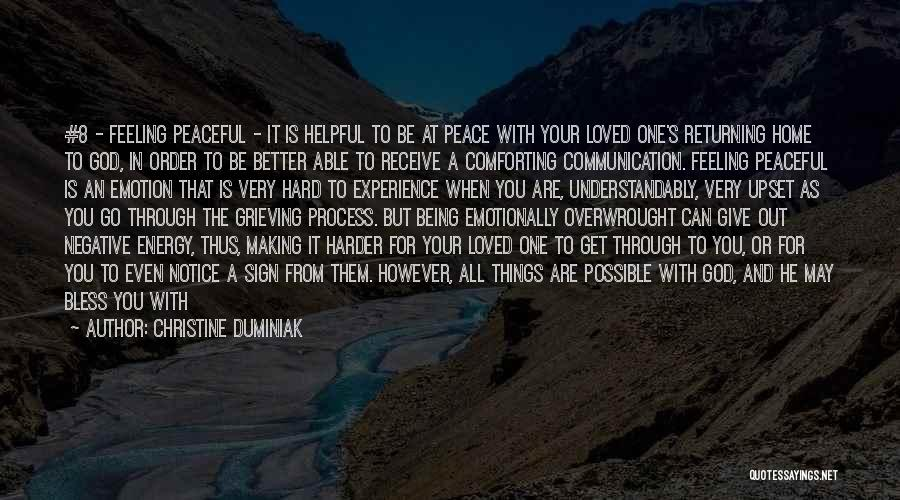 Feeling Contented Quotes By Christine Duminiak