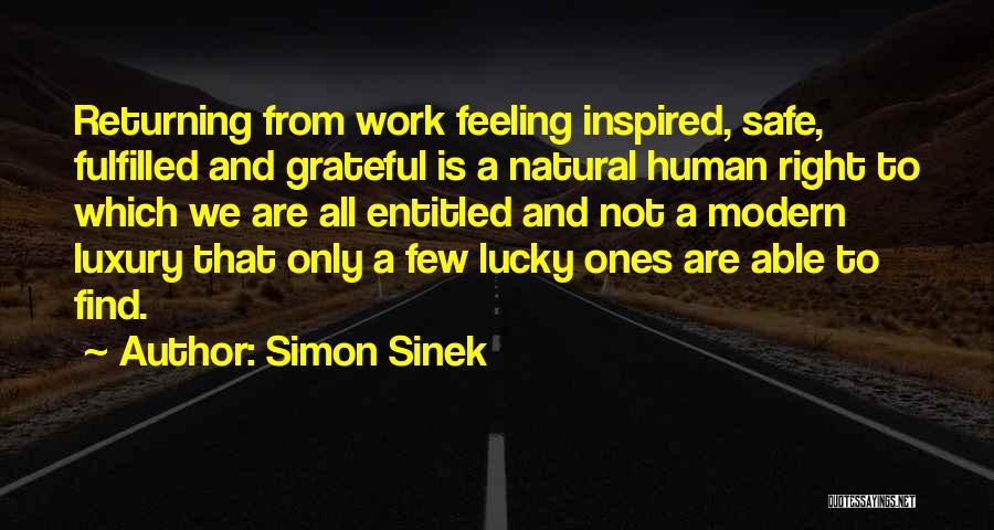 Feeling Entitled Quotes By Simon Sinek