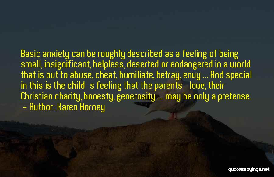Feeling Insignificant Quotes By Karen Horney