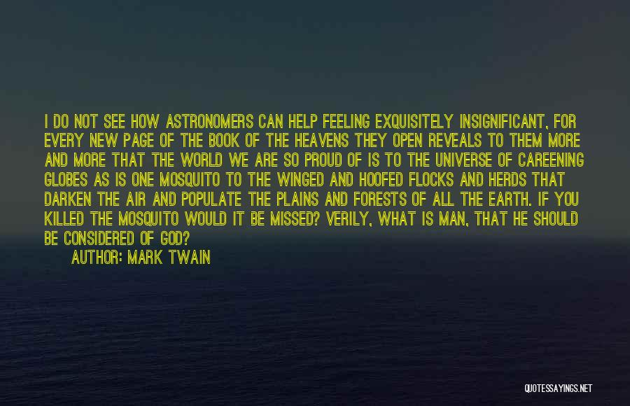 Feeling Insignificant Quotes By Mark Twain