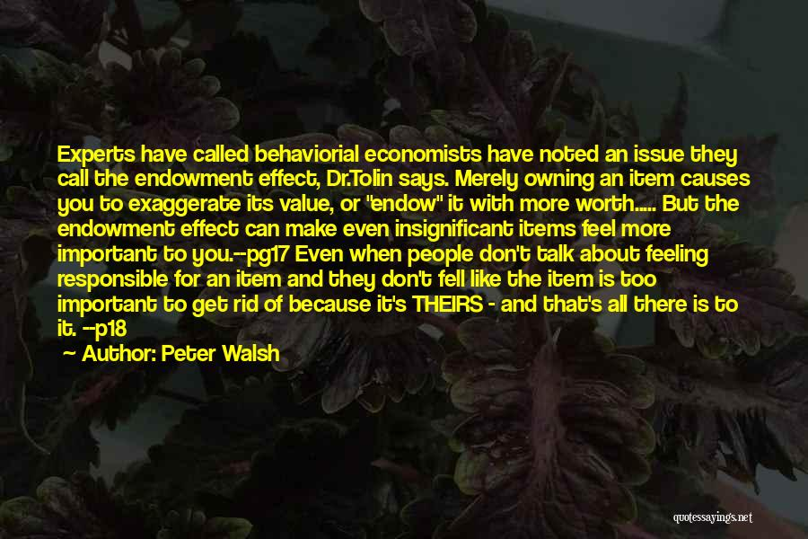 Feeling Insignificant Quotes By Peter Walsh