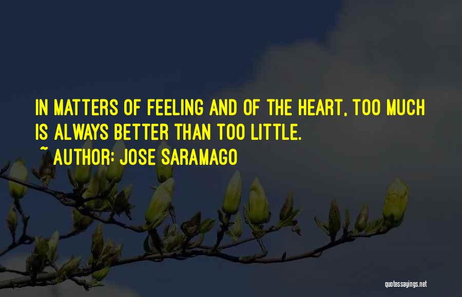 Feeling Much Better Quotes By Jose Saramago