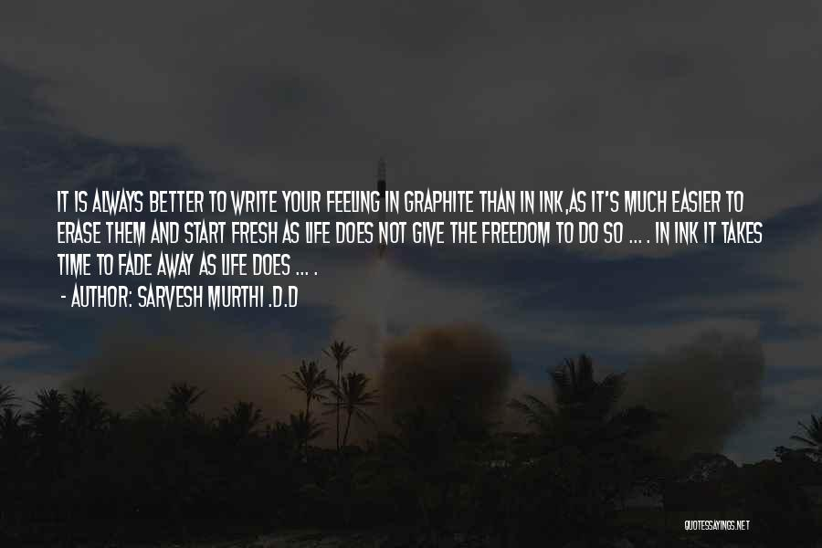 Feeling Much Better Quotes By Sarvesh Murthi .D.D