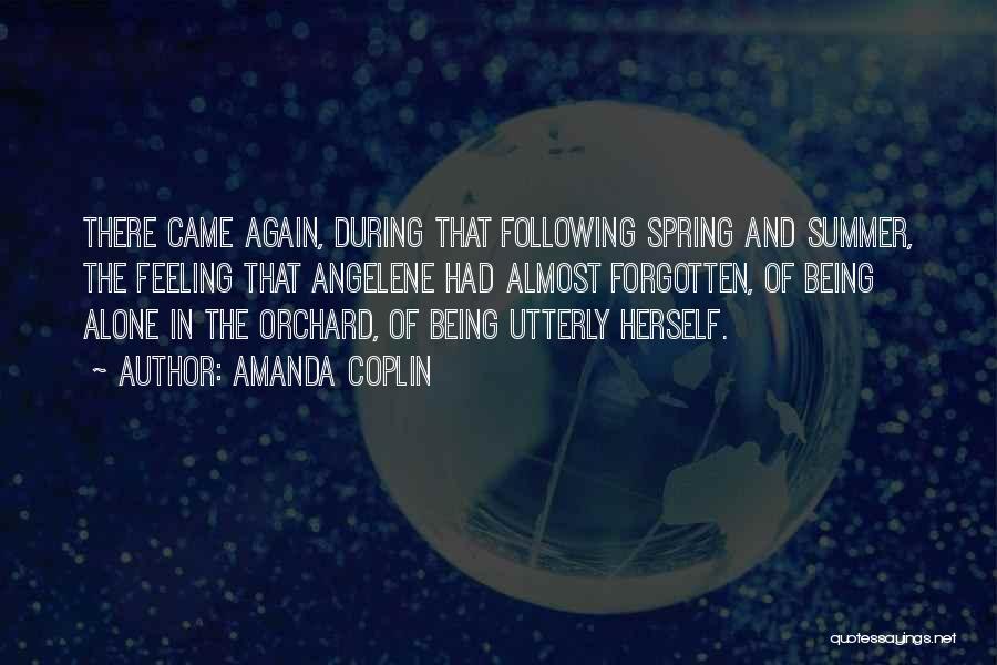 Feeling Of Alone Quotes By Amanda Coplin
