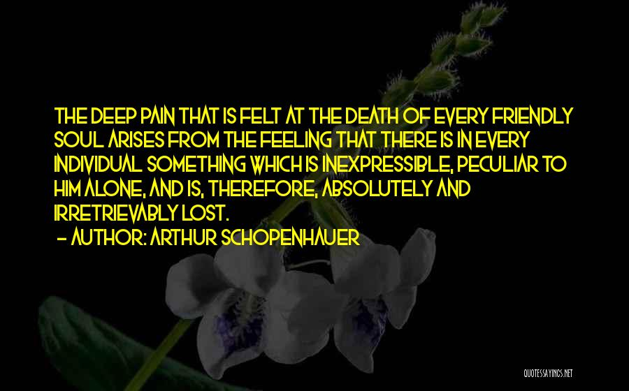 Feeling Of Alone Quotes By Arthur Schopenhauer
