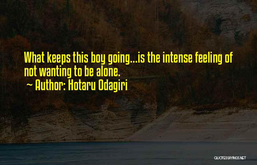 Feeling Of Alone Quotes By Hotaru Odagiri