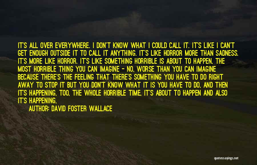 Feeling Sadness Quotes By David Foster Wallace