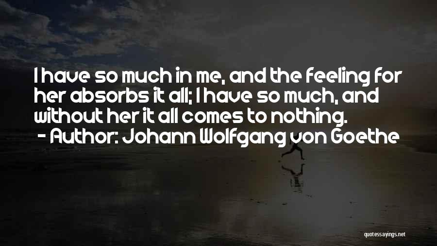 Feeling Sadness Quotes By Johann Wolfgang Von Goethe
