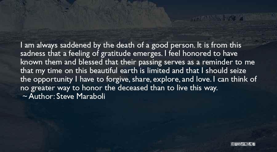 Feeling Sadness Quotes By Steve Maraboli