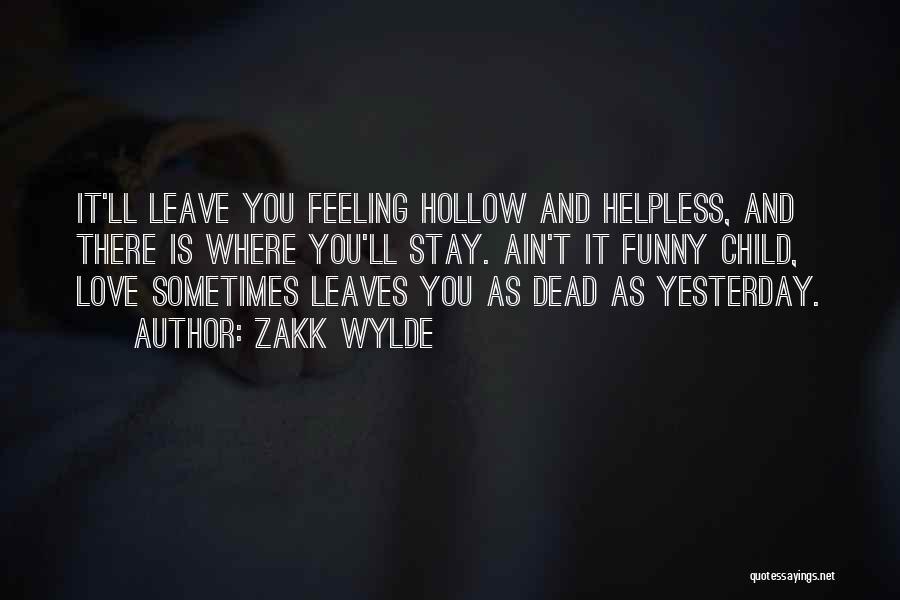 Feeling Sadness Quotes By Zakk Wylde