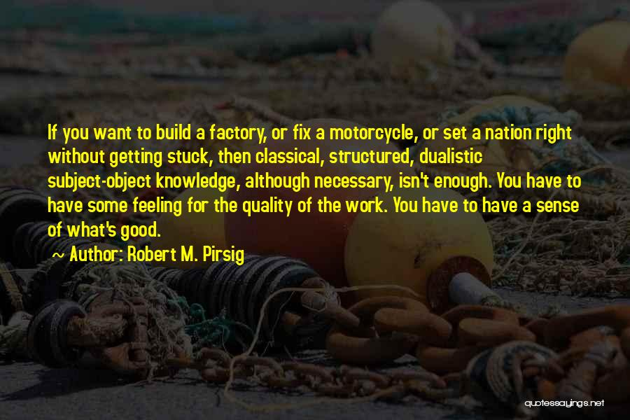 Feeling Stuck Quotes By Robert M. Pirsig