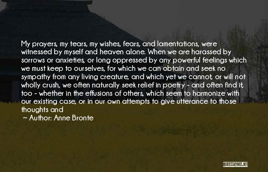 Feelings From Heart Quotes By Anne Bronte