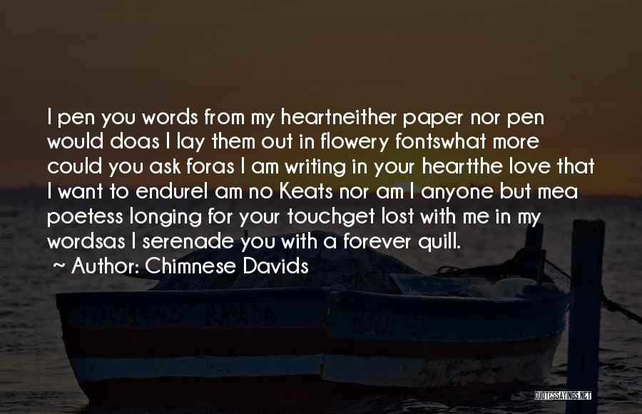 Feelings From Heart Quotes By Chimnese Davids